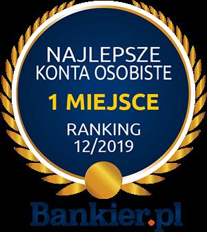obrazek odznaczenia pierwszego miejsca w rankingu najlepszych kont osobistych