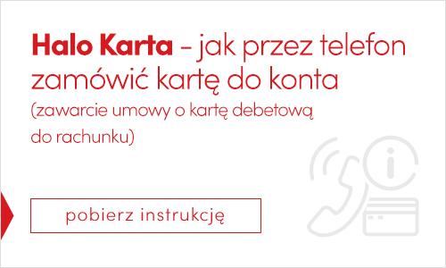 HALO KARTA - Karta do konta przez telefon