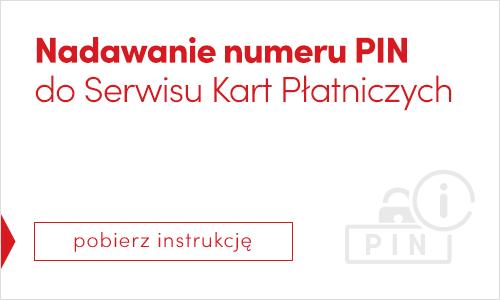 Nadawanie PINu do serwisu kart płatnicznych